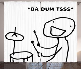 Badumts Drum Meme Comics Curtain