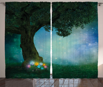 Magical Forest Night Curtain