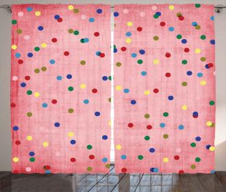 Geometric Circles Image Curtain