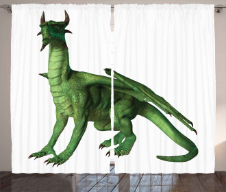 Ugly Cute Standing Dragon Curtain