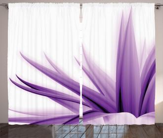 Purple Ombre Lotus Art Curtain