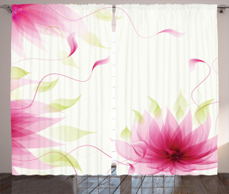 Abstract Natural Lotus Curtain