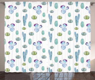 Botanic Desert Flowers Curtain