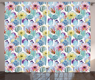 Desert Sand Wild Flowers Curtain