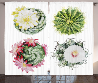 Mexican Retro Funky Cactus Curtain