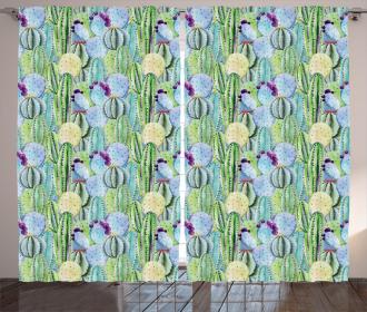 Cactus Plant Pattern Curtain