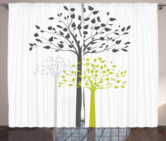 Mother Nature Trees Curtain