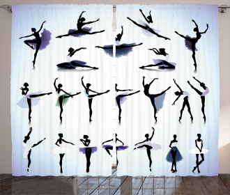 Female Ballet Dancers Curtain