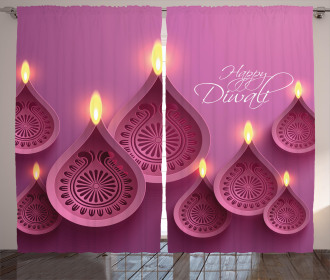 Candles for Celebration Curtain