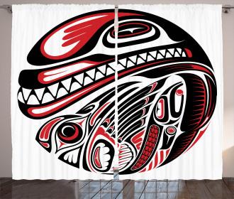 Haida Animal Art Curtain