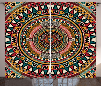 African Ethnic Color Art Curtain