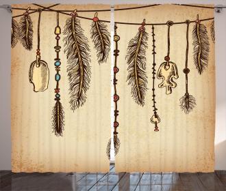 Bohemian Feathers Curtain