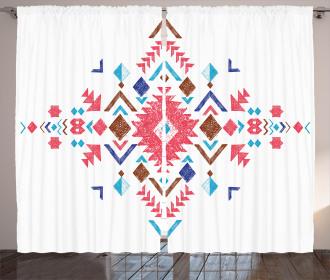 Ethnic Modern Frame Curtain