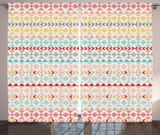 Boho Stripes and Shapes Curtain