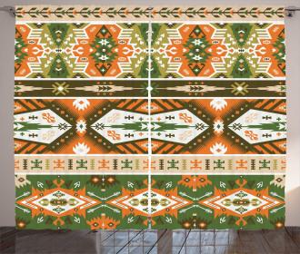 Aztec Mayan Style Stripe Curtain