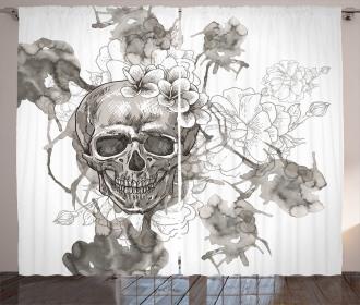 Festive Designed Print Curtain
