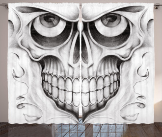 Skull Face Angry Curtain