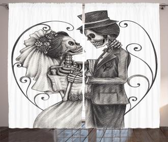 Skeleton Marriage Curtain