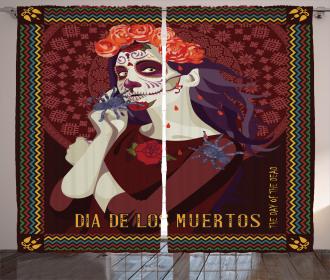 Spanish Festive Art Curtain