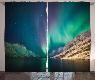 Mystical Aurora Borealis Curtain
