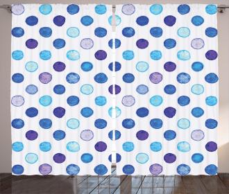 Blue Tones Soft Funky Curtain