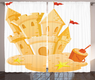 Sand Castle Kingdom Summer Curtain