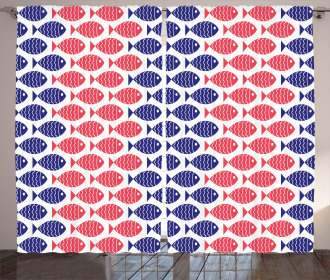 Nautical Fish Theme Design Curtain