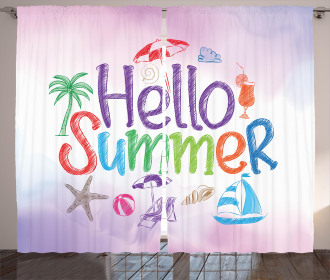 Summer Motivational Curtain