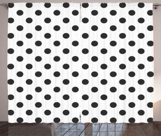 Nostalgic Polka Dots Art Curtain