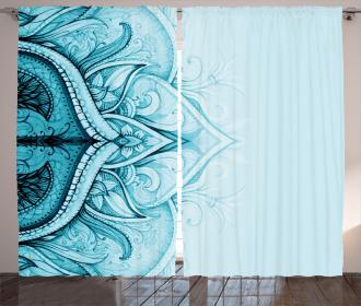 Ethnic Ornamental Lace Curtain