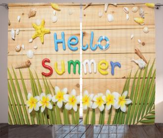 Flower Starfish Shell Curtain