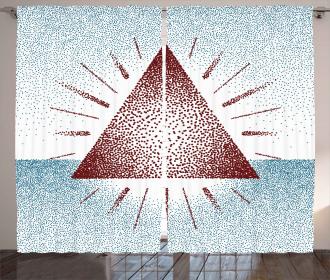 Dots Retro Pyramid Curtain