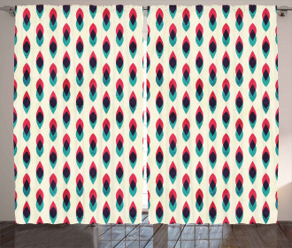 Geometric Curve Pattern Curtain