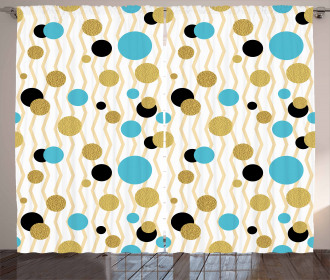 Trippy Geometric Round Curtain