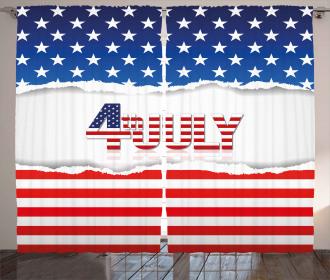 Patriotic Pattern Curtain