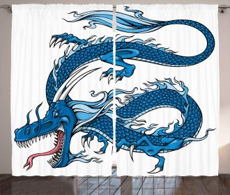 Dragon Myth Creature Curtain