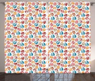 Cupcakes Cakes Creams Curtain
