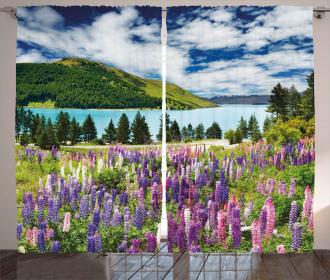 Lake Floral Petals Curtain
