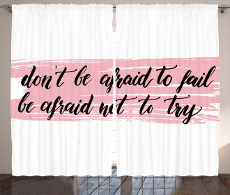 Try Motivation Quote Curtain