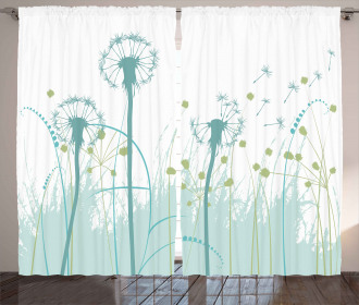 Floral Botany Blooms Curtain