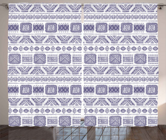Mexico Aztec Ethnic Boho Curtain