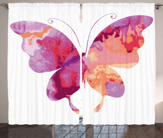 Butterfly with Wings Curtain