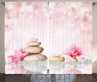 Bohemian Chakra Zen Stones Curtain