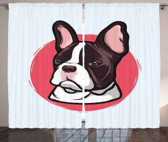 French Bulldog Hipster Curtain
