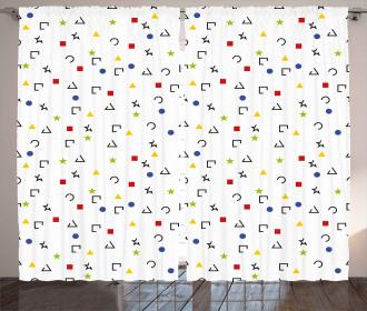 Square Star Circle Dots Curtain