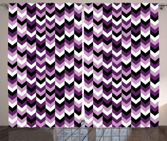 Zig Zag Retro Arrows Curtain