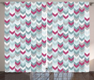 Symmetric Stripes Arrow Curtain