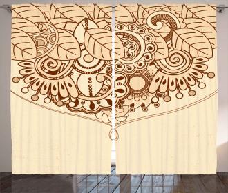 Eastern Asian Ethnic Design Curtain