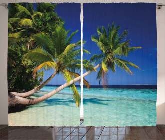 Exotic Maldives Beach Curtain
