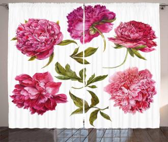 Spring Buds Vivid Tones Curtain